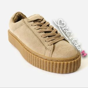 Public Desire Platform Creeper Sneakers Shoes